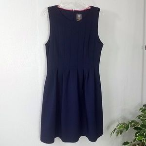 Plus Size Vince Camuto Classic Navy Pleated Dress